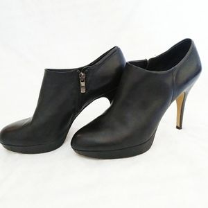 Vince Camuto Elvin Black Leather ankle Bootie